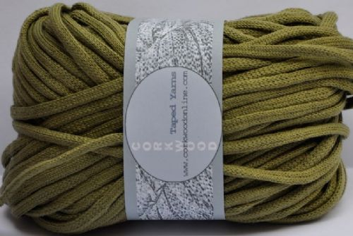 Khaki cotton Chunky Tape yarn 100g ball